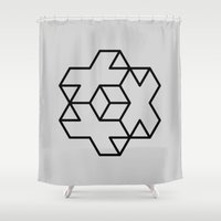 positive Shower Curtains featuring Positive by Dizzy Moments