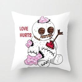 love hurts voodoo doll Divorce Break Up Throw Pillow