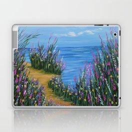 One Path, Ocean Seascape, Modern Impressionism, Beach Art Laptop & iPad Skin