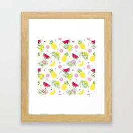 FRUIT--PATTERN Framed Art Print