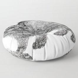 fluffy kitten Floor Pillow