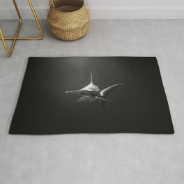 Hammerhead Shark (Black and White) Rug