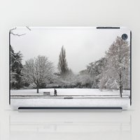 england iPad Cases featuring England Winter by Becky M