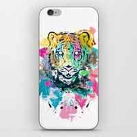 psychadelic iPhone & iPod Skins featuring Tiger Splash by Geo Law