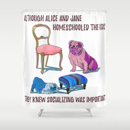 animals with chairs #3 Homeschooling Shower Curtain