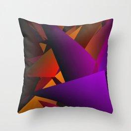 Smoke Screen Abstract 2 Throw Pillow