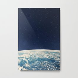Planet earth from the space at night Metal Print