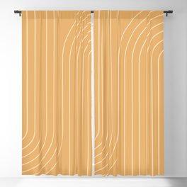 Minimal Line Curvature - Orange Blackout Curtain