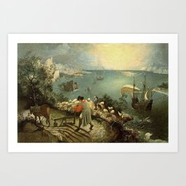 Landscape with the Fall of Icarus - Pieter Bruegel Art Print