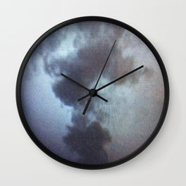 Ephemeral Rosebud Wall Clock