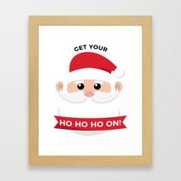 Ho Santa Claus Laughter Christmas Celebration Design Framed Art Print