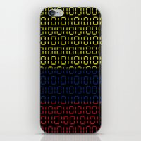 colombia iPhone & iPod Skins featuring digital Flag (Colombia) by seb mcnulty