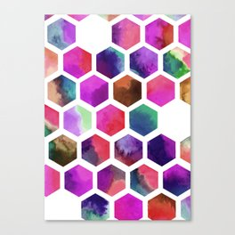 Pink Hexagons Canvas Print
