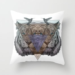Ghosts of the Wild Throw Pillow