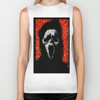scream Biker Tanks featuring Scream by brett66