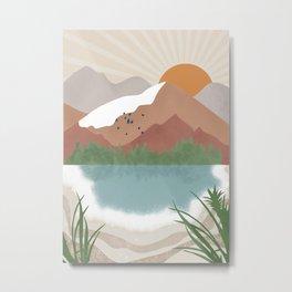 Lake Mood Metal Print