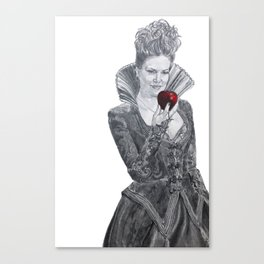 Apple red as blood Canvas Print