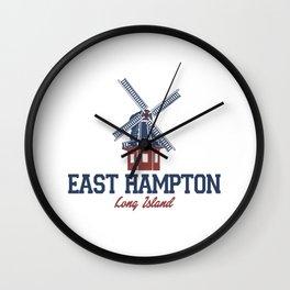 East Hampton - Long Island. Wall Clock