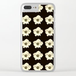 Sepia flower -bloom,blossom,petal,floral,leaves,flor,garden,nature,plant. Clear iPhone Case
