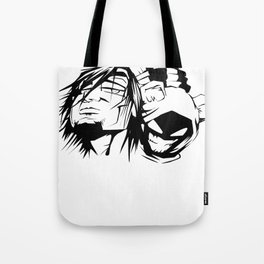 Content with KAOS characters Tote Bag