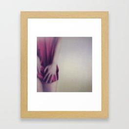 Just by Half Framed Art Print