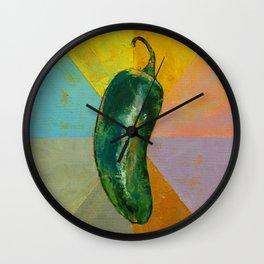 Jalapeño Wall Clock
