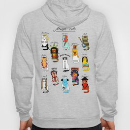 Famous Music Cats – Most Popular Musicians of the World Hoody