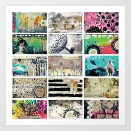 One by One Art Print