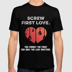First Love [WHITE] Mens Fitted Tee Black MEDIUM