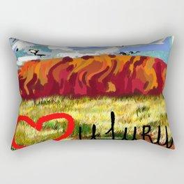 I love Uluru Rectangular Pillow