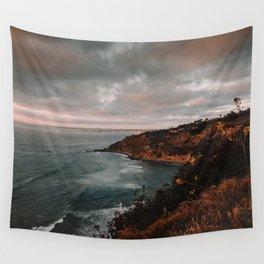 California Coastline Sunset II Wall Tapestry