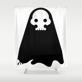 ghost - black Shower Curtain
