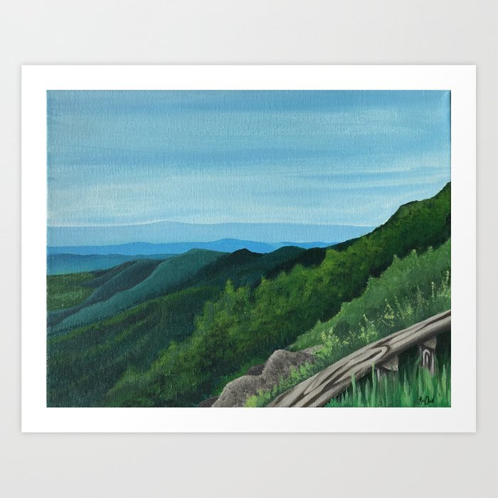 These mountains are home Art Print