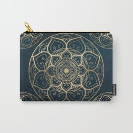 Mandala Night Blue Carry-All Pouch