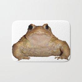 Bufo Bufo European Toad  Isolated Bath Mat