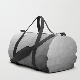 Grey Gradient Geometric Mesh Pattern Duffle Bag