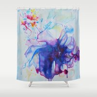 fairy tale Shower Curtains featuring Fairy Tale by Maria Lozano - Art