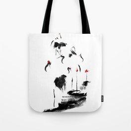 7 Cranes Tote Bag
