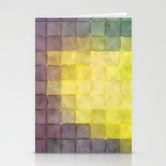 Polaroid Pixels V (Leaf heart) Stationery Cards