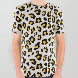Leopard Print - Mustard Yellow All Over Graphic Tee