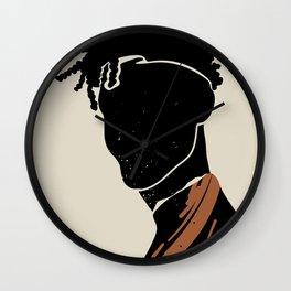 Black Hair No. 2 Wall Clock