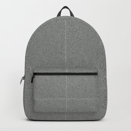 The Cannibal's Bedroom Gray Grid Blanket Backpack