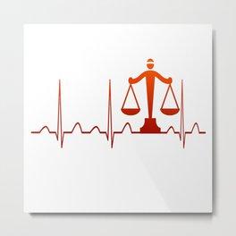 LAWYER HEARTBEAT Metal Print