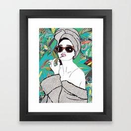 Lip gloss Framed Art Print