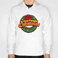 fangirl Hoodies featuring A Very Fangirl Christmas by Leigh Lahav