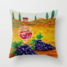 Taste Of Italy By Annie Zeno Throw Pillow