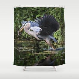 Heron Take-off Shower Curtain