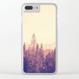 Faded Hills Clear iPhone Case