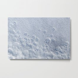 Bubbles and circles in frozen lake Metal Print