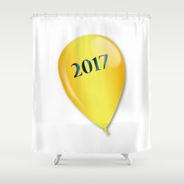 2017 Baloon Shower Curtain